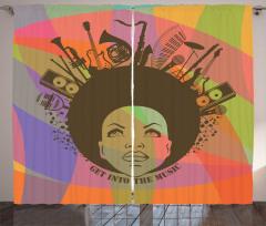 Müzik Afro Kadın Fon Perde Trend
