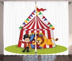 Sirk ve Tatlı Aslan Fon Perde Çocuklar İçin