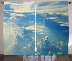 Bulutlar ve Gökyüzü Fon Perde Mavi