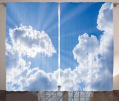 Bulutlar ve Güneş Fon Perde Gökyüzü