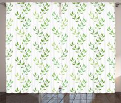Zeytin Yaprakları Fon Perde Trend