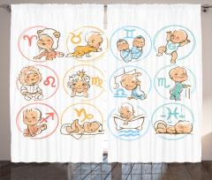 Burç Haritası Fon Perde Bebek Astroloji