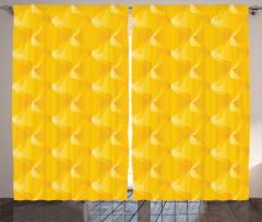 Sarı Dekoratif Desenli Fon Perde Şık Tasarım