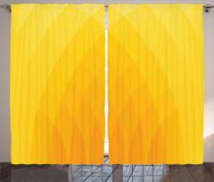 Sarı ve Turuncu Desenli Fon Perde Trend