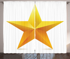 Parlak Yıldız Desenli Fon Perde Beyaz Sarı