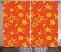 Kaplumbağa Deniz Kabuğu Fon Perde Kaplumbağa Deniz Kabuğu Sarı