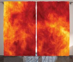Ateşin Büyüsü Fon Perde Ateş Temalı Modern Sanat Sarı