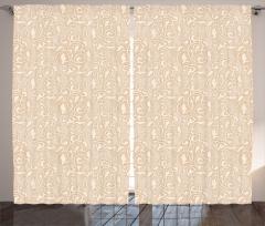 Bej Fon Perde Duvar Kağıdı Temalı Trend