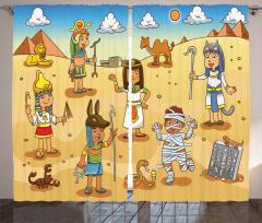 Mısır ve Piramit Fon Perde Çocuk