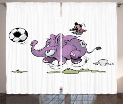 Futbol Oynayan Fil Fon Perde Komik