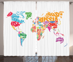 Rengarek Ülke İsmi Fon Perde Harita