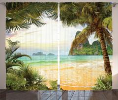 Doğal Bir Cennet Fon Perde Kumsalda Dalgalar
