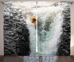 Çağlayanda Rafting Fon Perde Çağlayanda Rafting