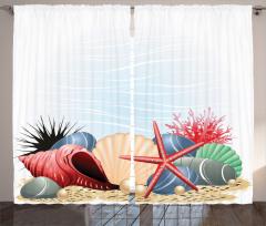 Rengarenk Deniz Dünyası Fon Perde Şık Tasarım