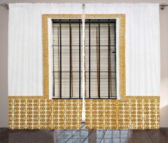 Pencere Temalı Fon Perde Beyaz Panjur Duvar