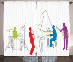 Orkestra Temalı Fon Perde Müzik Severlere