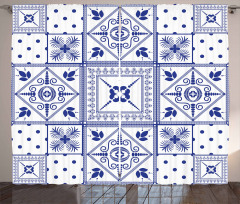 Seramik Desenli Fon Perde Geometrik Şık Tasarım
