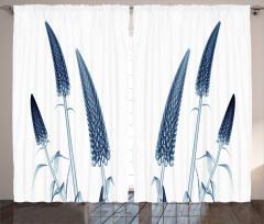 Sanatsal Çiçek Desenli Fon Perde 3D Etkili