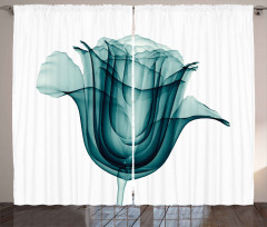 Dekoratif Gül Desenli Fon Perde 3D Etkili