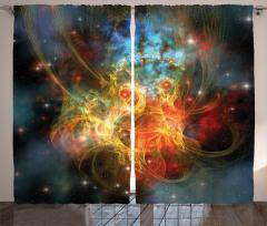 Sarı Turuncu Nebula Fon Perde Uzay Gökyüzü