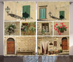 Pencere ve Kapı Temalı Fon Perde Dekoratif