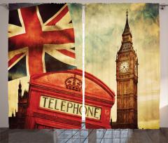 İngiltere ve Big Ben Fon Perde Antik