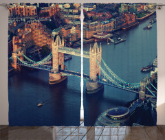 Nehir ve Antik Köprü Fon Perde Londra