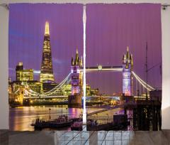 Nostaljik Köprü Temalı Fon Perde Şık Tasarım