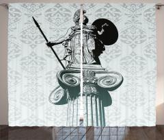 Sanat Eseri Temalı Fon Perde Heykel Antik