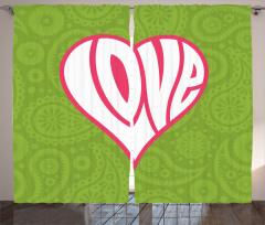 Sevgililer İçin Fon Perde Aşk Temalı Kalpli