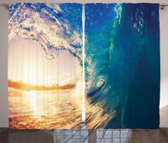 Okyanusta Gün Doğumu Fon Perde Gün Doğumu Sörf