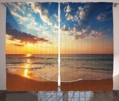 Denizde Gün Batarken Fon Perde Deniz Gün Batımı