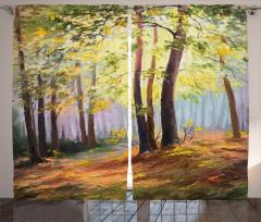 Orman ve Doğa Fon Perde Orman Yeşil Doğa