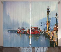 Liman Kasabası Fon Perde Liman Kasabası