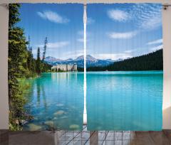 Mavi Göl Fon Perde Orman Göl Mavi Yeşil