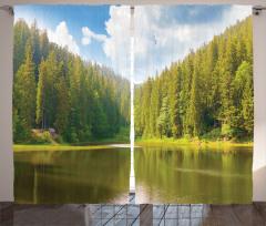Ağaçlı Göl Fon Perde Göl Bahar Yeşil Doğa