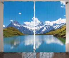 Karlı Dağlar Fon Perde Karlı Dağlar Mavi