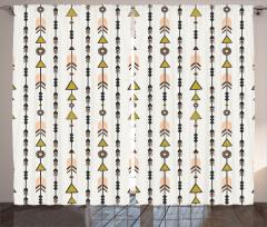 Minik Oklar Fon Perde Şık Tasarım Modern Sanat