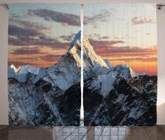 Karlı Dağ Manzarası Fon Perde Karlı Dağ Manzaralı
