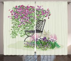 Rengarenk Çiçekler Fon Perde Rengarenk Çiçekler