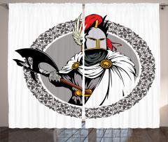Şövalye ve Balta Fon Perde Nostaljik