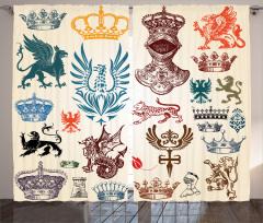 Kraliyet ve Orta Çağ Fon Perde Antik