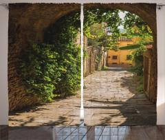 Antik Kemer ve Sokak Fon Perde Şık