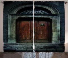 Antik Tapınak Kapısı Fon Perde Antik Tapınak Kapısı Siyah