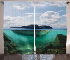 Deniz Altı Ülkesi Fon Perde Deniz Mavi Yeşil Doğa