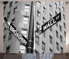 Wall Street ve Broadway Fon Perde ABD