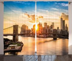 Gökdelen ve Köprü Fon Perde New York