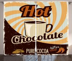 Dekoratif Desenli Fon Perde Sıcak Çikolata