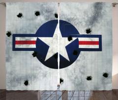 Kurşunlanmış Uçak Fon Perde Gri Mavi
