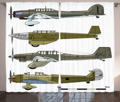 Eski Savaş Uçakları Fon Perde Eski Savaş Uçakları Yeşil